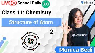 Class 11 | Structure of Atom-2 | Chemistry | Unacademy Class 11&12 | Monica Bedi - MONICA