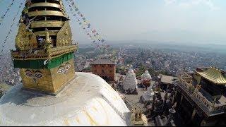 Kathmandu Monkey temple from the air