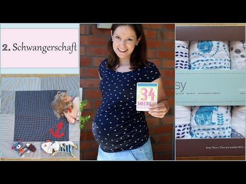 Schwangerschaftsupdate: 34. Woche, Krabbeldecke, Leukos und Spucktücher | gabelschereblog
