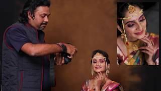 Marathi Bride Poses With Canon 6D Mark2 And 50mm Lens By Dipak Vaghela Bridal Portrait.