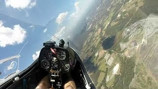 Learn to fly glider sailplane High speed What is final glide Roy Dawson video