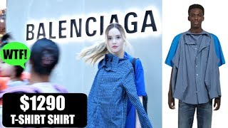 TRYING THE VIRAL $1290 BALENCIAGA T-SHIRT SHIRT