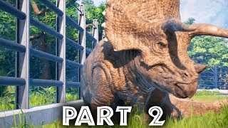 Jurassic World Evolution Gameplay Walkthrough Part 2 - SICK DINOSAUR (Full Game)