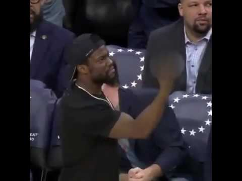 #KevinHart let's the #GSWarriors know how he feels about them