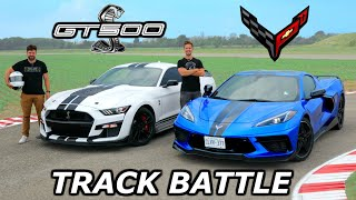 2020 C8 Corvette Z51 vs Mustang Shelby GT500 // DRAG RACE, ROLL RACE & LAP TIMES