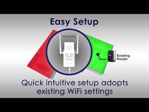 TRENDnet AC1200 WiFi Range Extender TEW-822DRE