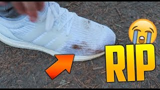 RUINED MY ULTRA BOOSTS! :(