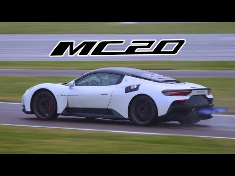 MASERATI MC20 ON THE TRACK - Accellerations, powerslides & more!