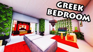 Minecraft Tutorial #32 - Greek House - How to Build a Bedroom (HD)