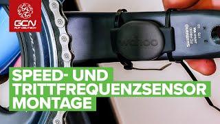 Wie man einen Geschwindigkeits- und Trittfrequenzsensor ans Rad montiert