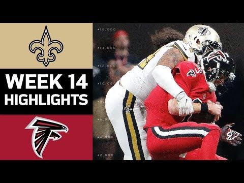 Saints vs. Falcons | NFL Week 14 Game Highlights