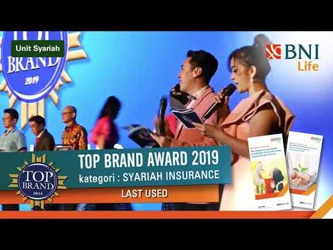 BNI Life memperoleh penghargaan TOP BRAND untuk kategori Asuransi Syariah