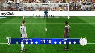 JUVENTUS Vs AJAX | UEFA Champions League - UCL | Penalty Shootout | PES 2019