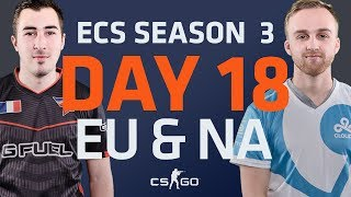 ECS S3 D18: Faze vs Dignitas // G2 vs Envyus // Cloud9 vs SK Gaming // Liquid vs NRG