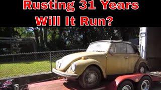 Will It Run? vw Bug abandoned in a Leaking Wet Garage.