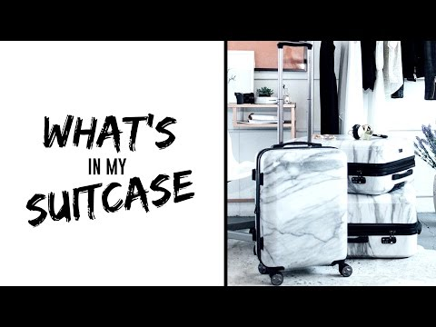 How I Pack My Suitcase // What's in my Suitcase 2016