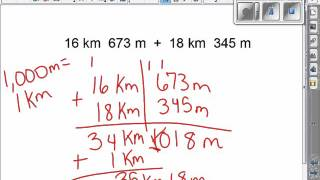 Adding and Subtracting Metric Units of Measurements