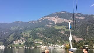 スイス発 ルツェルン湖の蒸気船まもなくフィッツナウ【スイス情報.com】