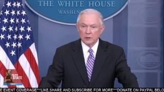 Attorney General Jeff Sessions Speaks at Sean Spicer Press briefing regarding Sanctuary Cities!!!
