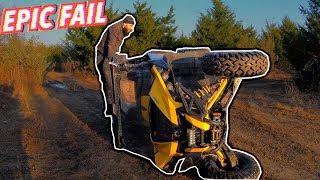 HE FLIPPED HIS NEW CAN-AM 1000R (NOT GOOD)   BRAAP VLOGS