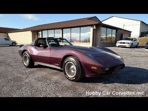 1979 Black Cherry Corvette T Top For Sale Video