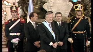Asunción De Néstor Kirchner Hacia Plaza De Mayo Y Jura Del Gabinete 2003 Parte I
