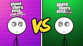 GTA V Gamers VS GTA Vice City Gamers