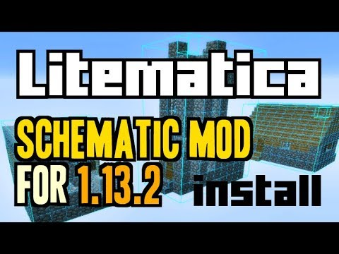 LITEMATICA MOD 1.13.2 minecraft - how to download and install [like Schematica] (with Rift)