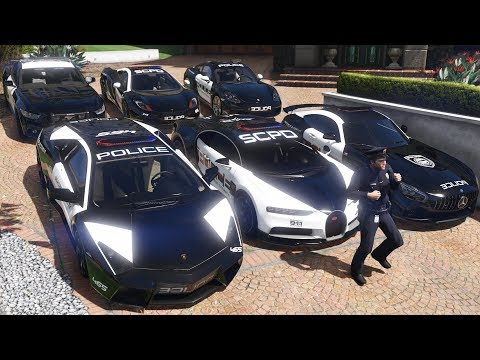 GTA 5 - Stealing Luxury Police Cars with Michael! (Real Life Cars #04)
