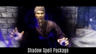 BECAME A SHADOWS MASTER! Skyrim Mods - Shadow Spell Package