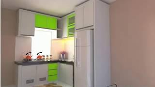Desain Kitchen Minibar Warna Hijau Cantik видео видео