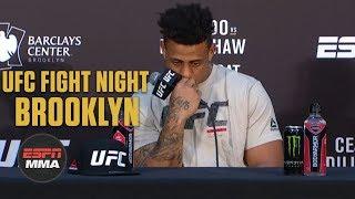 Greg Hardy Post-Fight Press Conference | UFC Fight Night: Brooklyn | ESPN MMA
