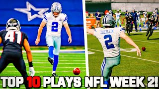 RECREATING THE TOP 10 PLAYS FROM NFL WEEK 2!! Madden 21 Challenge
