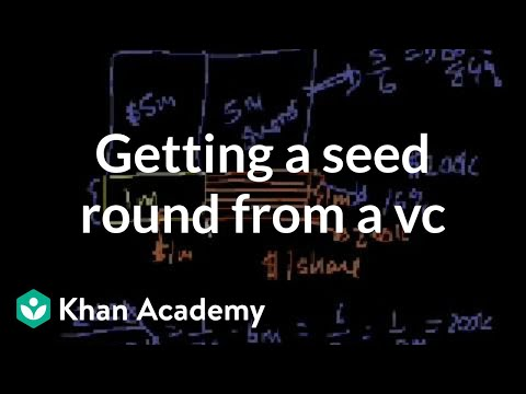 Getting a seed round from a VC (video) | Khan Academy