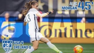WNT vs. Republic of Ireland: Alex Morgan Goal - Jan. 23, 2016