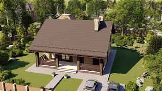 Проект дома 097-A, Площадь дома: 97 м2, Размер дома:  7,7x10,7 м