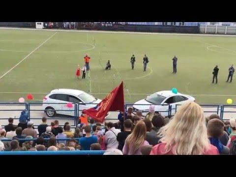 9 мая стадион Родина. Выступления сотрудников спецслужб. Вальс На Автомобилях Лада VESTA и Лада XRAY