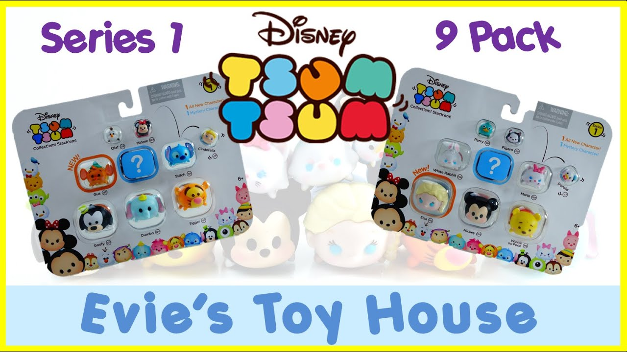 Disney Tsum Tsum Vinyl Figures SERIES 1 - 9 packs with Surprise Blind Bag | Evies Toy House