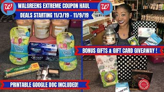 WALGREENS EXTREME COUPON HAUL DEALS STARTING 11/3/19~9 ITEMS .53 CENTS~PLUS BONUS GIVEAWAY ENTER NOW
