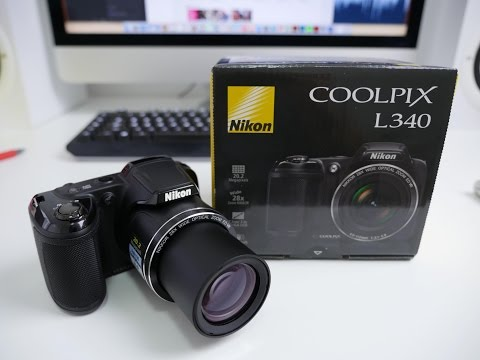 Nikon L340 UNBOXING and HANDS ON