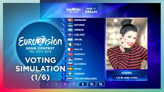 2019 Eurovision Song Contest · Voting Simulation (Part 1/6) (Jury Voting)