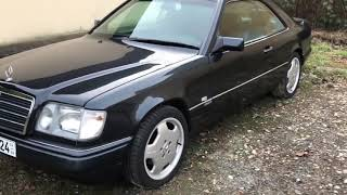 ㉦ Mercedes 124 E320 Coupé. First cold start since 3 years. W124.  🚘