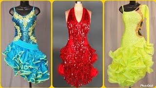 Beautiful Sequin Latin Salsa Dancing Dress Designs
