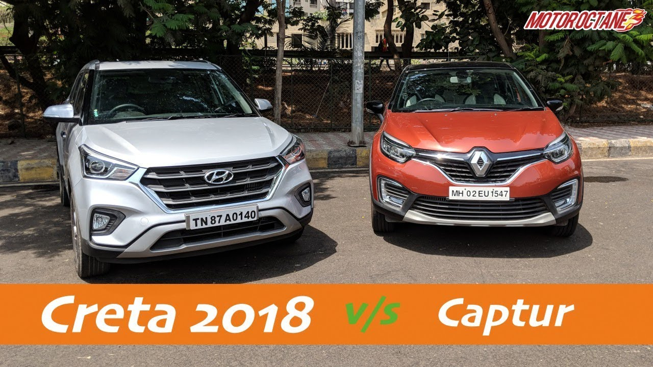 Motoroctane Youtube Video - Hyundai Creta 2018 vs Renault Captur Comparison in Hindi | MotorOctane