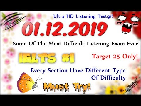 IELTS LISTENING PRACTICE TEST 2019 WITH ANSWERS | 01.12.2019