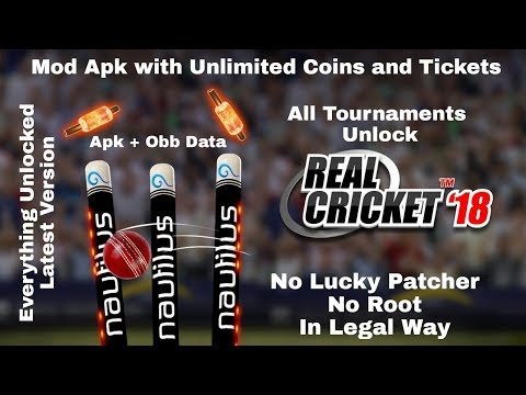 REAL CRICKET UNLIMITED MONEY AND TICKETS MOD APK DOWNLOAD