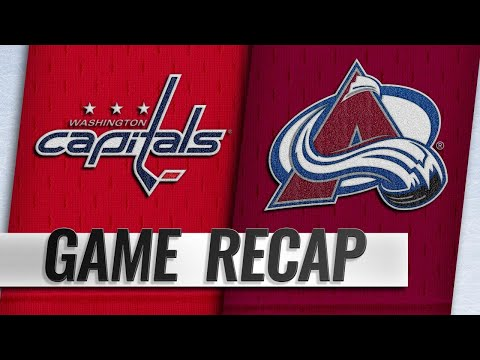 11d4d25418b Backstrom lifts Caps past Avs in overtime
