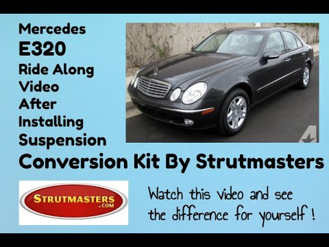 Mercedes E320 With A Front & Rear Air Spring And Shock Replacement By Strutmasters / Ride Along