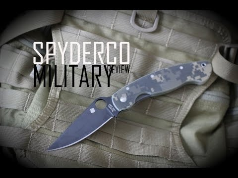 Black Scout Reviews   Spyderco Military Knife