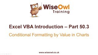 Excel VBA Introduction Part 50.3 - Conditional Formatting by Value in Charts
